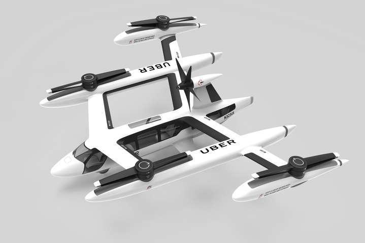 Uber представил концептуальный автомобиль летающего такси