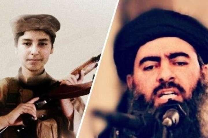 <span>Абу Бакр аль-Багдади и его сын</span><br /><br /> - Причиной смерти сына главаря «Исламского государства» назвали удар российских ВКС