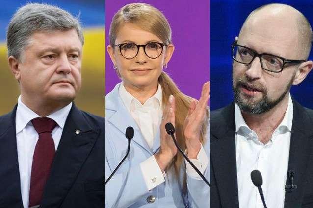 Свіжа соціологія. Найвищий антирейтинг у Порошенка, Тимошенко і Яценюка