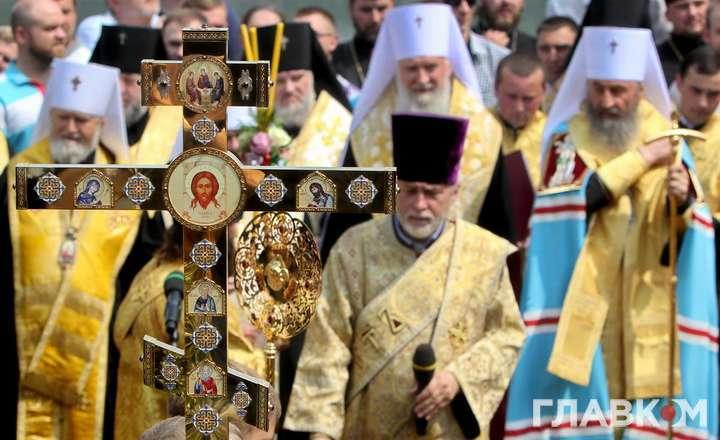Молебен на Володимирській гірці у Києві, 27 липня 2016 року — Битва Хресних ходів