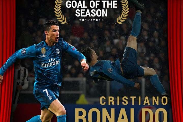 Кріштіану Роналду забив найкрасивіший гол за підсумками минулого сезону (відео)