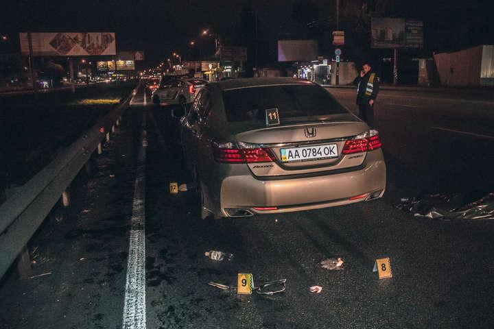 Від удару серйозні пошкодження отримав автомобіль Honda - На Кільцевій дорозі у Києві Honda на смерть збила двох пішоходів