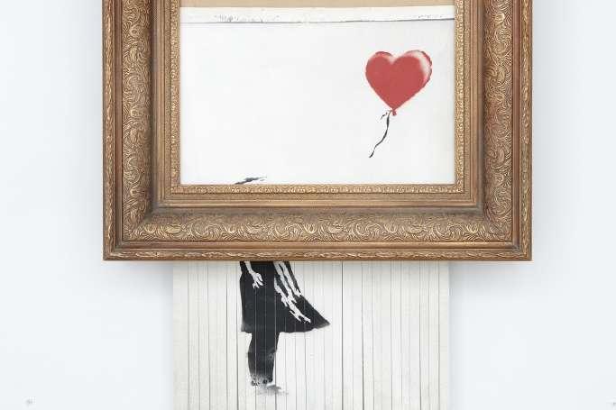 Самоуничтожившаяся картина Бэнкси- Женщина которая купила самоуничтожившуюся картину Бэнкси не стала отменять сделку