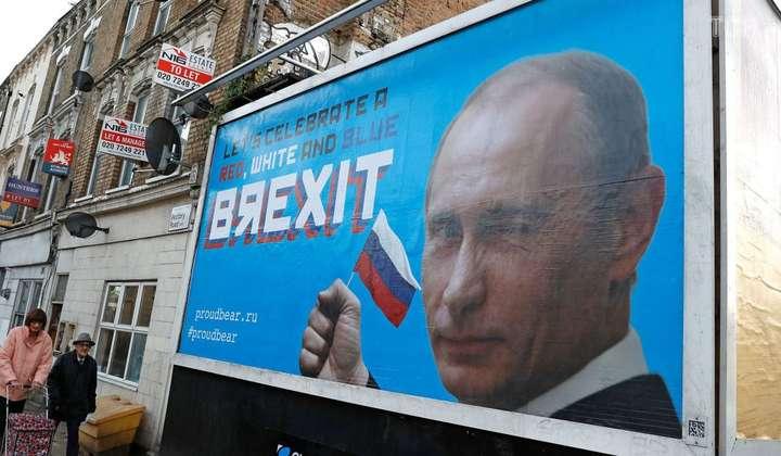 <span>У Лондоні з'явилися білборди з Путіним на тему Brexit</span> - У Лондоні з'явилися сатиричні білборди з Путіним