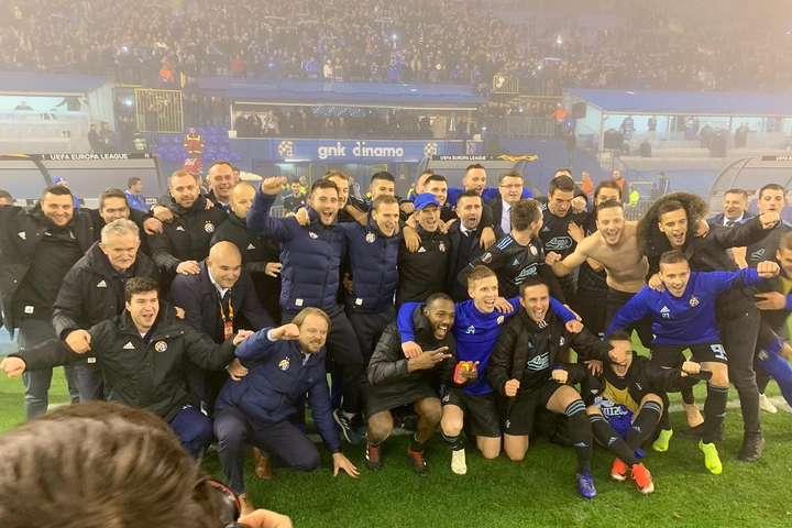 Футболісти та тренер загребського «Динамо» - Уже відомі сім команд, які здобули путівки в 1/16 фіналу Ліги Європи