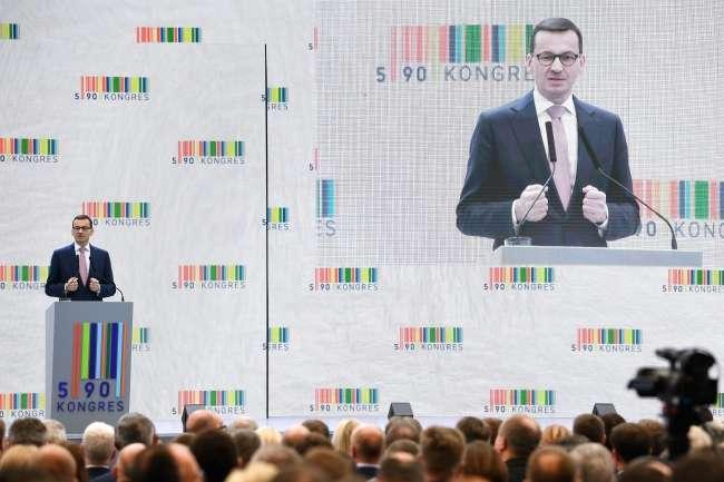 Прем'єр-міністр Польщі Матеуш Моравєцький виступив під час Kонгресу 590 - У Польщі найвище економічне зростання серед країн ЄС за квартал