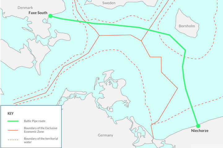 <p>Потужність газогону складатиме до десяти мільярдів кубометрів газу на рік</p><div></div> — Польща та Данія домовилися про морський газогін