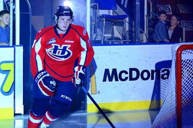 Ігор Мережко - Мережко закинув свою першу шайбу в сезоні WHL