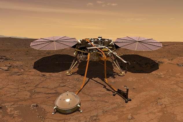 Космічний зонд InSight - Зонд InSight передав нові фото околиць Марса