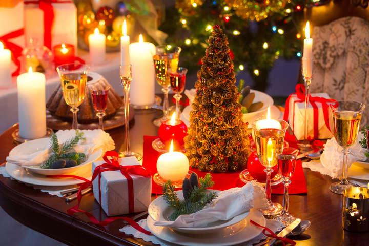 накрыть стол на новый год