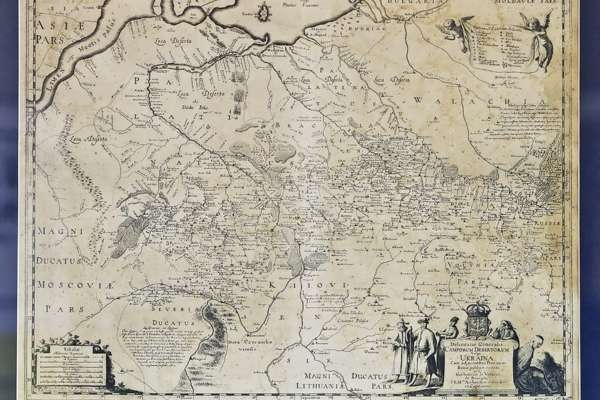 Генеральна карта України, автор Гійом ле Вассер де Боплан, 1648 р. — У Києві представили унікальні карти України