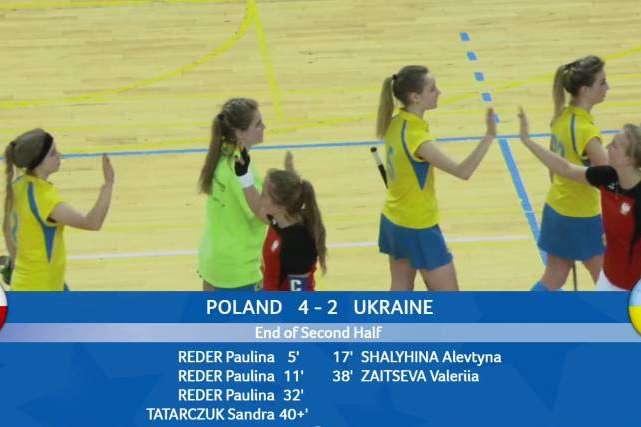 Молодіжна жіноча збірна України програла вже четвертий матч на першості Європи з індорхокею