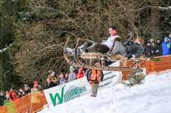 Фото: — Перегони на рогових санях у Німеччині