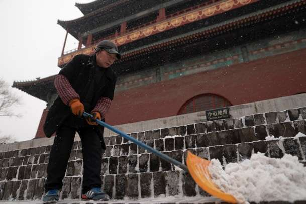 У середньому у місті випало 0,4 мм снігу - У Пекіні сильні снігопади