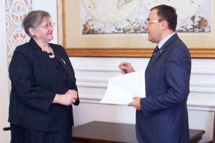 Сторони обговорили актуальні питання порядку денного відносин між Україною та Хорватією - В Україні розпочала дипмісію новий посол Хорватії