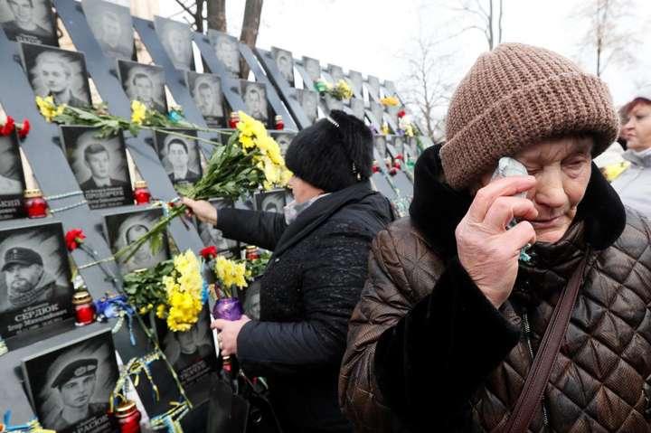 <p>104 Героям Небесної сотні посмертно присвоєно звання Героїв України</p> — Сьогодні в Україні — День Героїв Небесної сотні