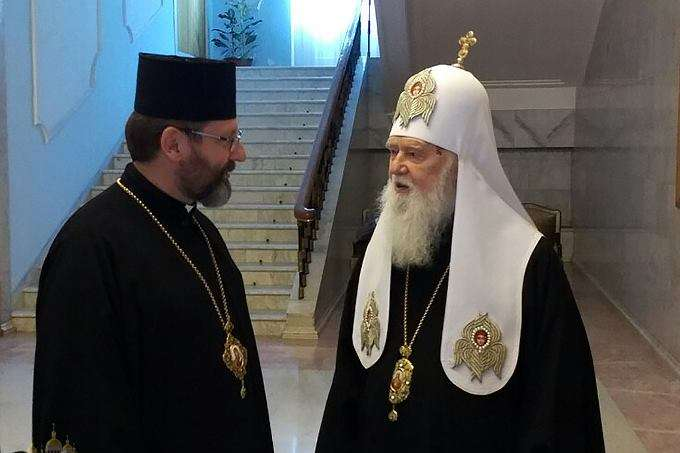 Святійший Патріарх Філарет і Глава УГКЦ Блаженніший Святослав