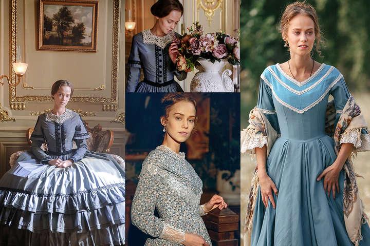 Силуэты 19 века и украинские наряды, которым больше 150 лет: фотопоборка самых красивых женских образов сериала «Крепостная»
