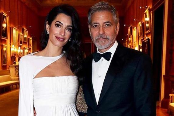 Амаль и Джордж Клуни - Амаль и Джордж Клуни сверкали на благотворительном мероприятии в Эдинбурге