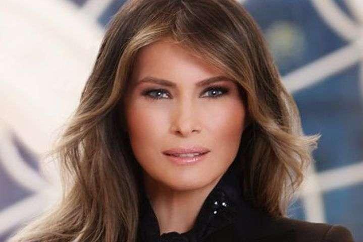 Мелания Трамп - Графические узоры на шелке: Мелания Трамп поразила стильным луком гостей Белого дома