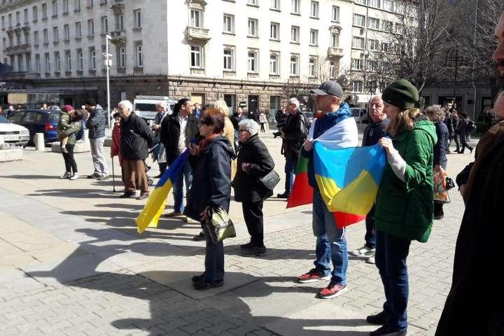 Українська діаспора у Болгарії нагадала про річницю анексії Криму (фото)
