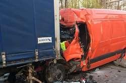 Фото: — <p>Поліцейські встановлюють обставини дорожньої аварії за участю лося і двох автівок</p>