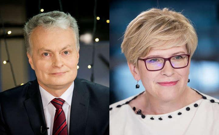Інґріда Шимоніте і Ґітанас Науседа — Вибори президента Литви: визначилися учасники другого туру