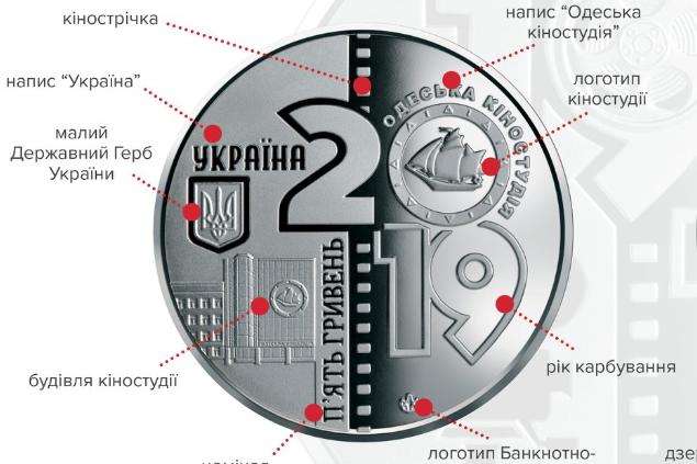Національний банк ввів у обіг пам'ятну монету «100 років Одеській кіностудії»