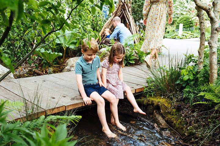 Принц Джордж, принцесса Шарлотта и принц Луи помогают Кейт Миддлтон в саду:  новые фото королевской семьи - Главком