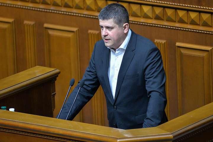 <p>Керівник фракції «Народний фронт» Максим Бурбак</p> — «Народний фронт» не підтримує законопроект із закритими виборчими списками, — Бурбак