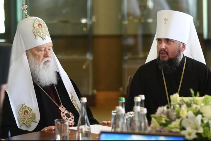 Святійший патріарх Філарет та предстоятель Православної Церкви України Епіфаній - Філарет проти Епіфанія. Як Священний Синод гасив пожежу