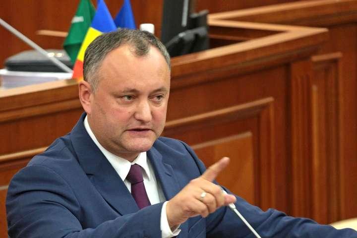 Додон заявив про подолання політичної кризи у Молдові