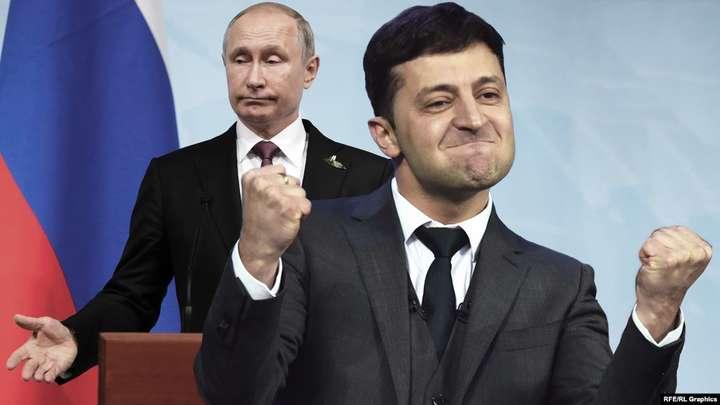 Володимир Зеленський, праворуч, і Володимир Путін (колаж) — Зеленський описав зустріч з Путіним