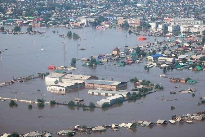 Россия идет на дно: в Сибири целый город уходит под воду - Главком