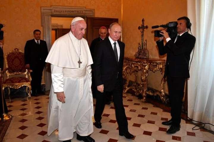 Путін з Папою Римським, 4 липня 2019 року — У Ватикані Путін зустрівся із Папою Римським (відео)