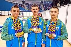 Фото: — Золоті діти тренера Ірини Надюк: Назар Чепурний, Ілля Ковтун і Володимир Костюк здобули 12 медалей на трьох!