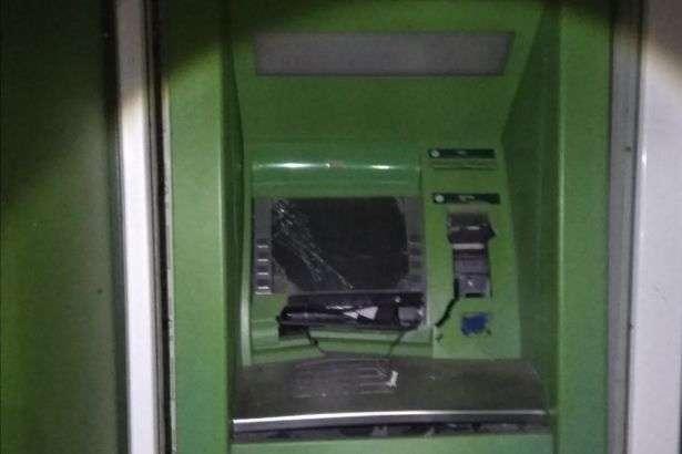 Підірваний банкомат — На Харківщині підірвали банкомат