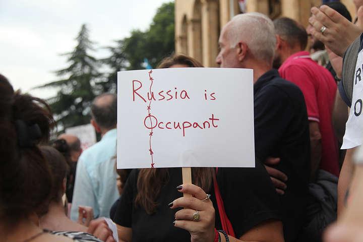 Протестна акція у центрі Тбілісі — Уроки гібридної війни в Цхінвальському регіоні Грузії