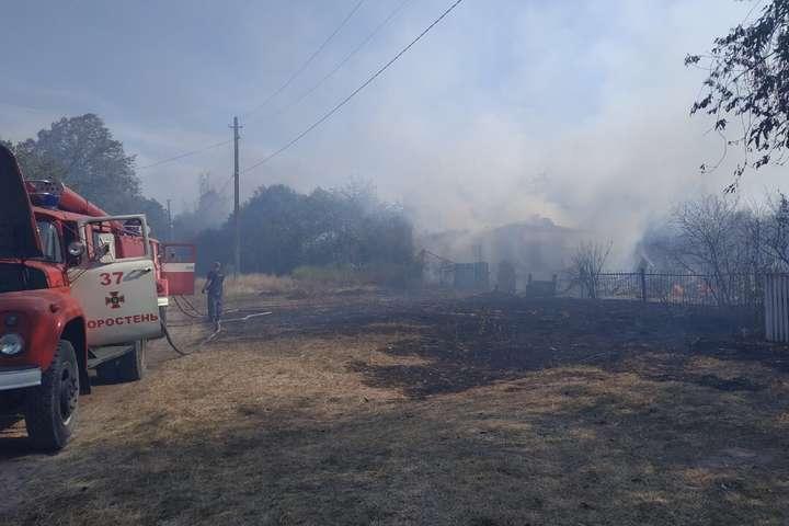 Спалювання трави на Житомирщині призвело до трагедії: згоріли два будинки і постраждала людина