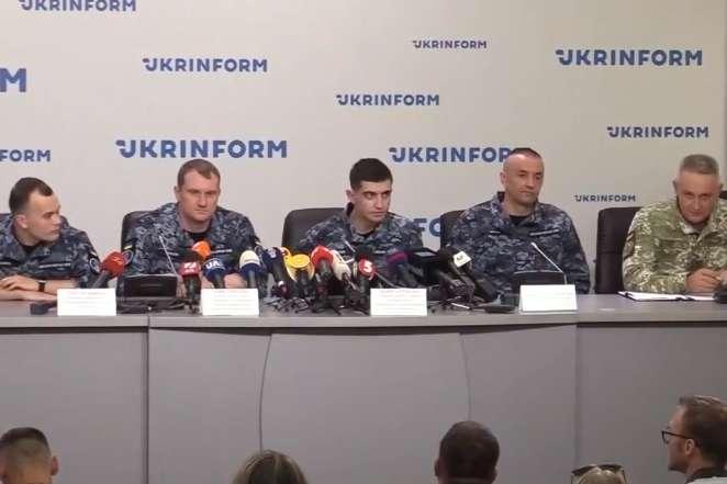 Пресконференція моряків у Києві, 12 вересня — Звільнені з російського полону моряки дають пресконференцію
