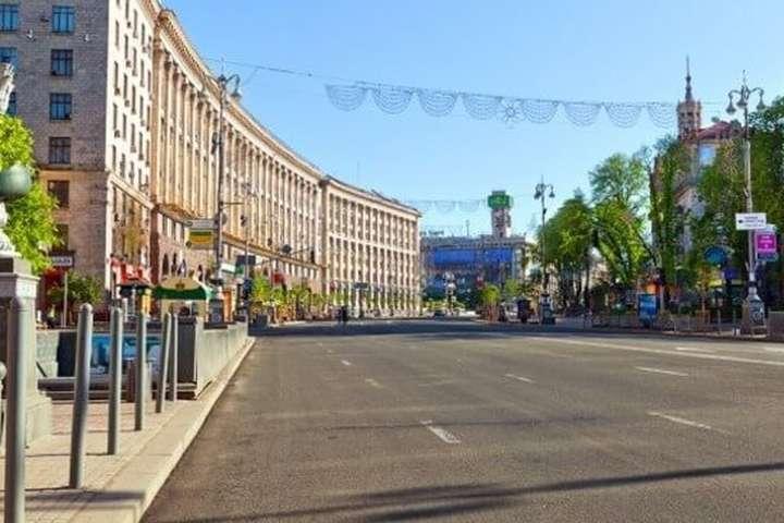 В центрі Києва обмежили рух транспорту