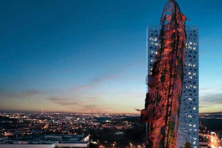 У Празі хочуть збудувати 135-метровий хмарочос з «кораблем», який врізається у будівлю