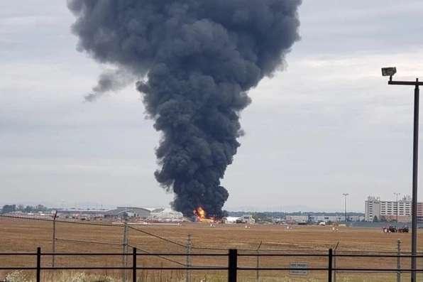 У США розбився бомбардувальник Boeing