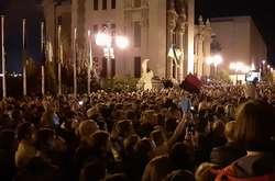 Фото: — Акція протесту біля Офісу президента, 2 жовтня 2019 року