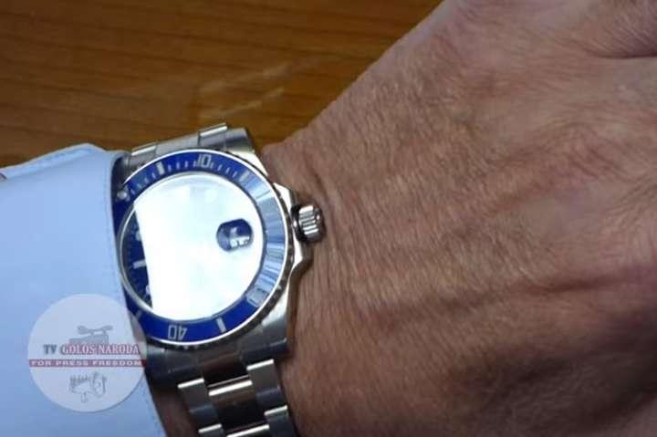 Кум Путіна Медведчук прийшов у Раду в годиннику Rolex вартістю 1 млн грн (відео)