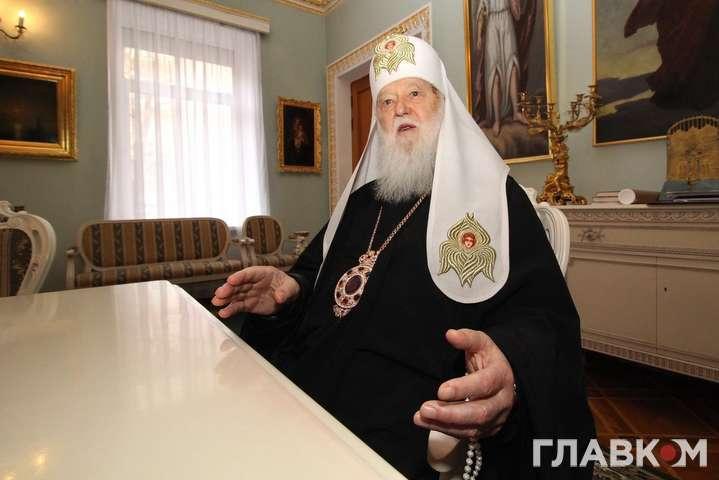<span>Почесний патріарх Православної церкви України Філарет</span> — У Філарета спростовують перемовини з РПЦ