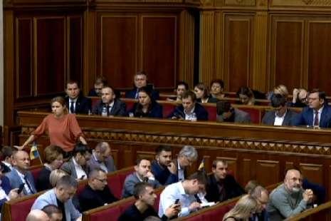 Програму діяльності уряду підтримала лише фракція «Слуга народу» (список)
