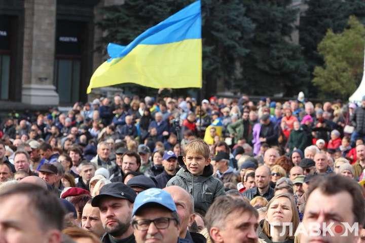 «Без жодних умов Кремля»: протестувальники озвучили єдину умову Зеленському