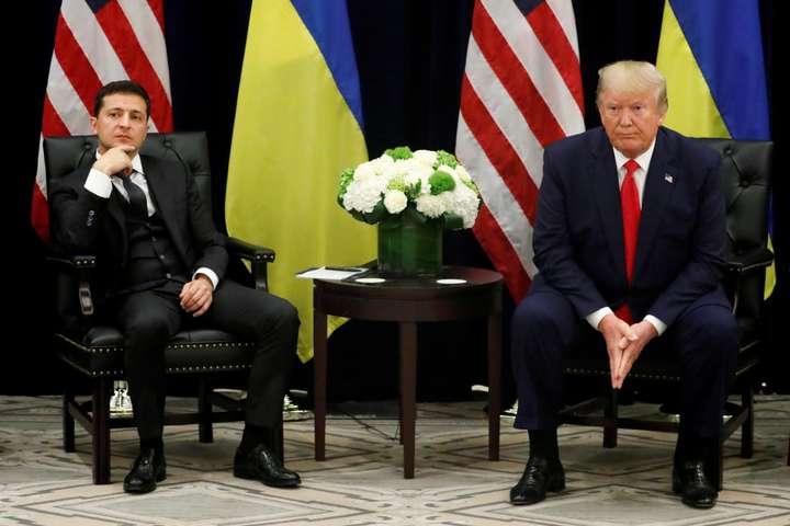 Володимир Зеленський та Дональд Трамп під час зустрічі у США