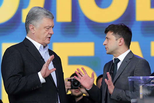 Петро Порошенко та Володимир Зеленський — Зеленський проти Порошенка. Півроку президентів у цифрах